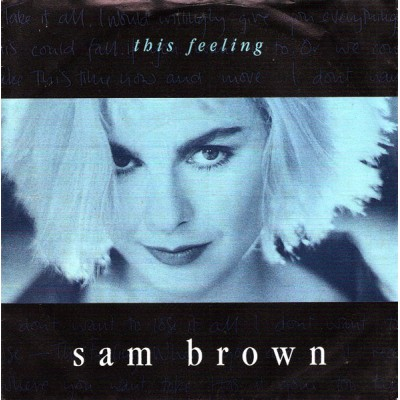 "7"" Sam Brown --- This Feeling"