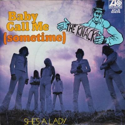 "7"" The Knack --- Baby Call..."